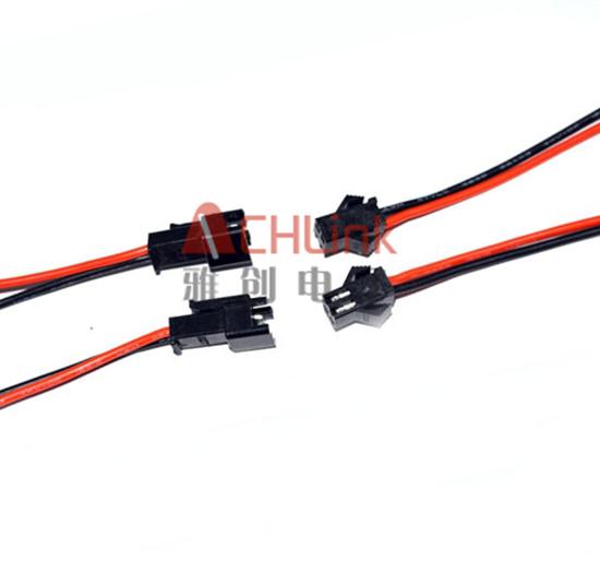 5公母端子线 2p对插连接线 焊接公母插头